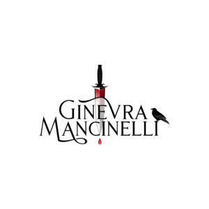 Ginevra Mancinelli's author logo, a bleeding dagger and a crow.